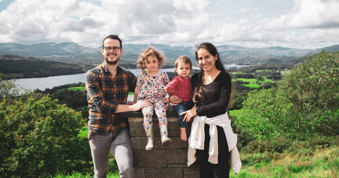 Ben Dale and family. L-r Ben, Emilia, Gabriela and Laura
